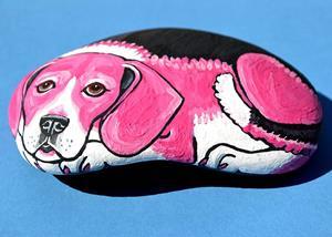 Detail Image for art Pink Beagle 1