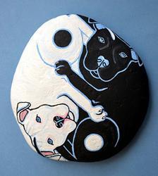 Art: Yin Yang Dogs 1 by Artist Melinda Dalke