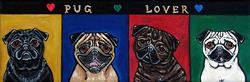 Art: Pug Lover by Artist Melinda Dalke