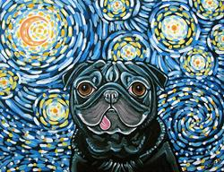 Art: The Pug Star by Artist Melinda Dalke
