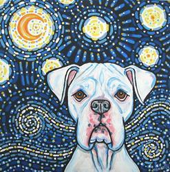 Art: Boxer Van Gogh by Artist Melinda Dalke