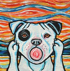 Art: Pit Bull Scream 1 by Artist Melinda Dalke