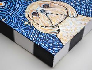 Detail Image for art Starry Night Shih Tzu 1