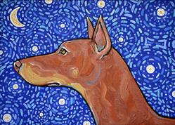 Art: Starry Night Doberman 1 by Artist Melinda Dalke