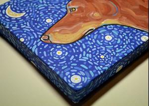 Detail Image for art Starry Night Doberman 1