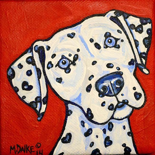Art: Heart Dal in Blues 1 by Artist Melinda Dalke