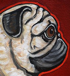 Detail Image for art fawn pug love