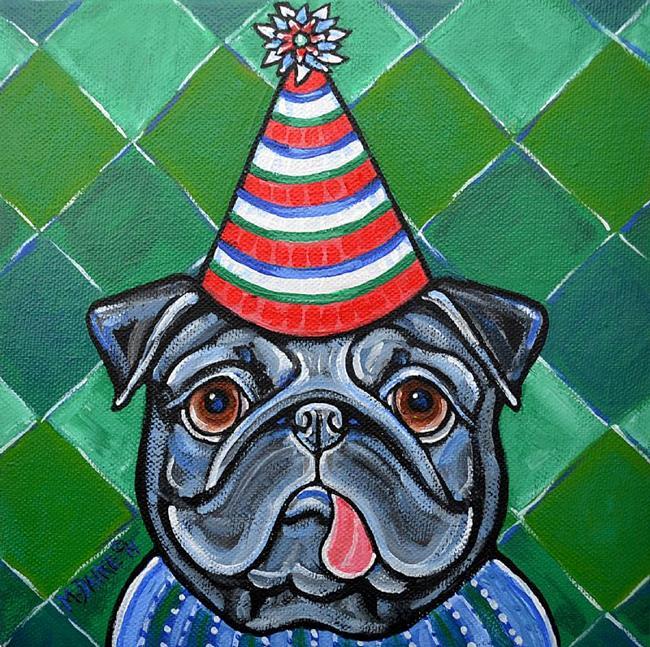Art: Party Pug 1 by Artist Melinda Dalke