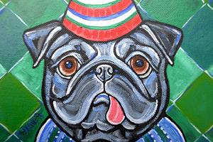 Detail Image for art Party Pug 1