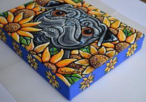 Detail Image for art Sunflower Pug 2016