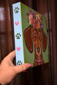 Detail Image for art Rosie Mae Flower Doxie