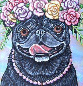 Detail Image for art pug flower art 1.jpg