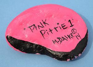 Detail Image for art Pink Pittie 1 Rock Art