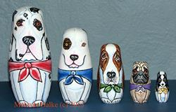 Art: Nesting Dolls - Dog Breeds 1 by Artist Melinda Dalke