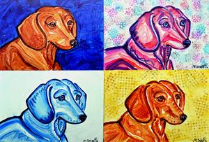 Detail Image for art Dachshund Study 4
