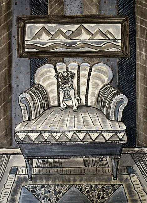 Art: Big Chair Little Dog by Artist Melinda Dalke