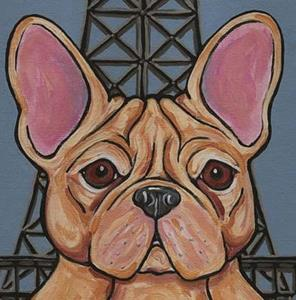 Detail Image for art Eiffel Tower Frenchie Dog
