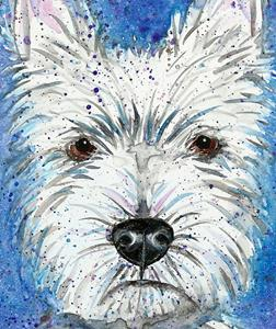 Detail Image for art Impression of a Westie Dog