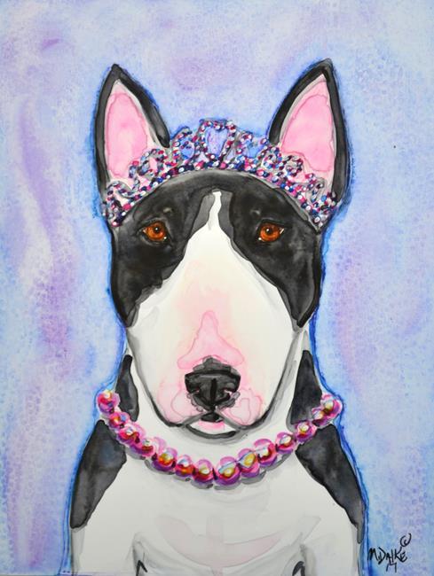 Art: Pearls and a Tiara by Artist Melinda Dalke