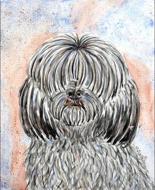 Art: Dog Study.jpg by Artist Melinda Dalke