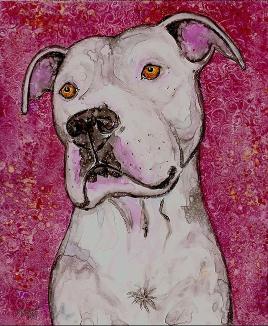 Art: Tarnished Pink by Artist Melinda Dalke