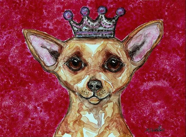 Art: Chihuahua and Pink by Artist Melinda Dalke