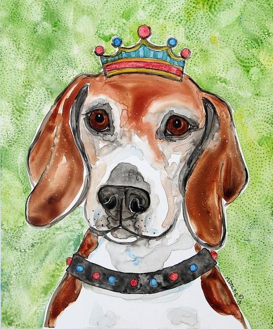 Art: King Spike Beagle Dog.jpg by Artist Melinda Dalke