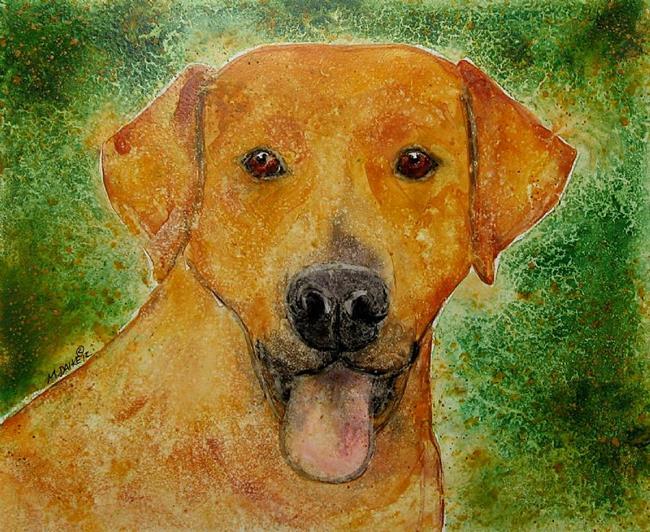 Art: Yellow Dog by Artist Melinda Dalke