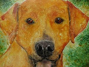 Detail Image for art Yellow Dog