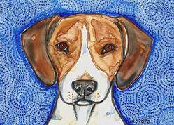 Art: Beagle Blues by Artist Melinda Dalke