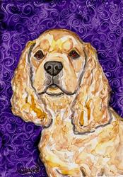 Art: cocker purple.jpg by Artist Melinda Dalke