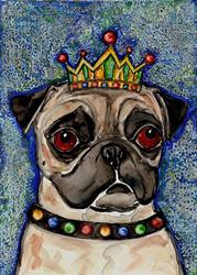 Art: King Pugly by Artist Melinda Dalke