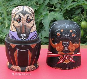 Detail Image for art Nesting Dogs - Mixed Breeds 2
