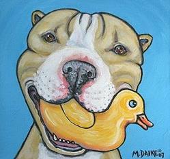 Art: Rubber Ducky 1 by Artist Melinda Dalke