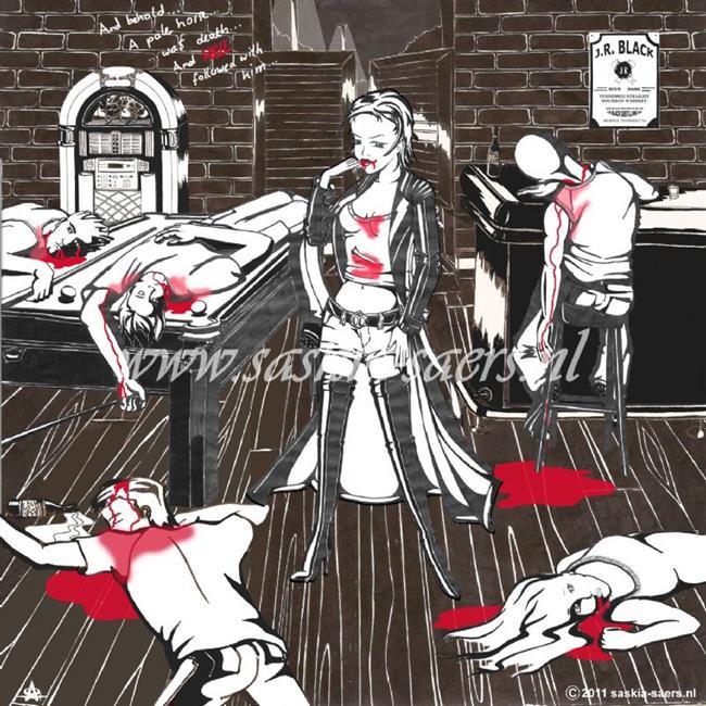 Art: Vampira by Artist Saskia Franken-Saers