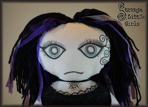 Detail Image for art OOAK gothic doll - Luna