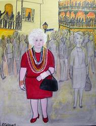 Art: Gran in New Orleans (Sold) by Artist Fran Caldwell