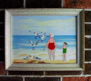 Detail Image for art Gran and the Gulls (Sold)