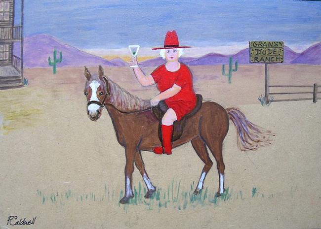 Art: Gran's Dude Ranch by Artist Fran Caldwell