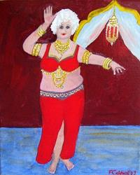 Art: Gran in the Casbah (Not for Sale) by Artist Fran Caldwell