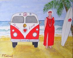 Art: Gran and the Van by Artist Fran Caldwell