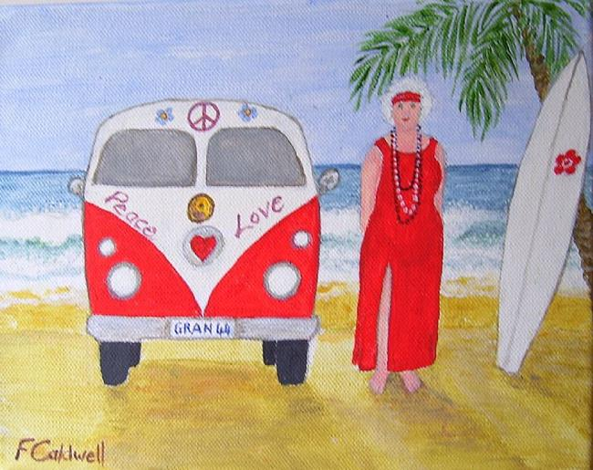 Art: Gran and the Van by Artist Fran Caldwell