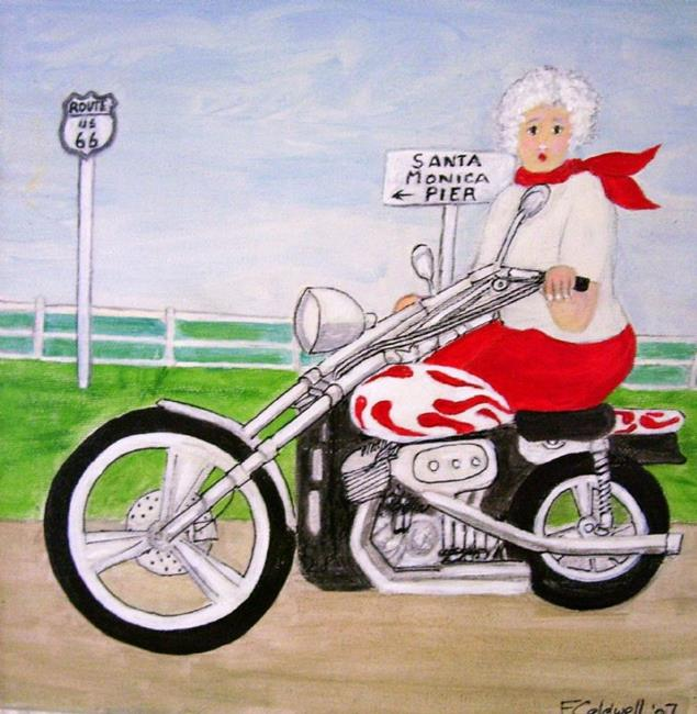 Art: Gran, Route 66? (Not for Sale) by Artist Fran Caldwell