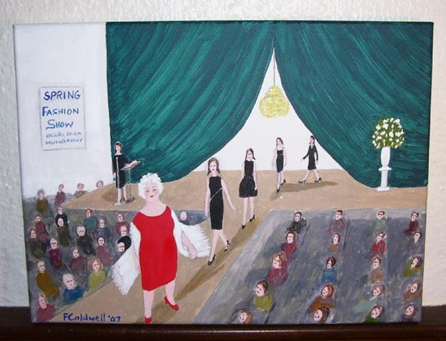 Art: Gran Takes A Stand (SOLD) by Artist Fran Caldwell