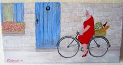 Art: Gran in Provence? (SOLD) by Fran Caldwell