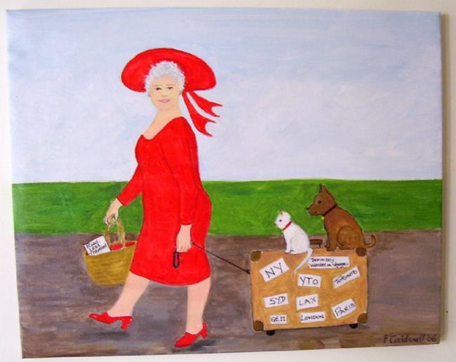Art: Gran, Send A Postcard! (SOLD) by Artist Fran Caldwell