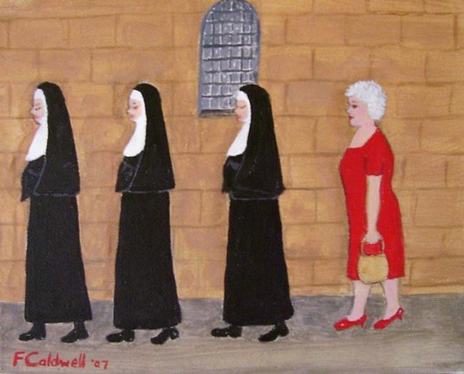Art: Gran's Tour Group? (Sold) by Artist Fran Caldwell