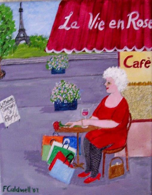 Art: Gran in Paris (Not for Sale) by Artist Fran Caldwell