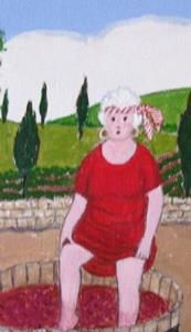 Detail Image for art Gran and the Grapes (Sold)