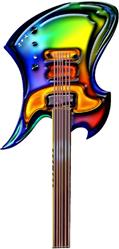Art: Guitar by Artist Kathy Morton Stanion